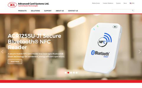 Screenshot of Products Page acs.com.hk - ACS - Top PC-linked Smart Card Reader Supplier   Homepage - captured Oct. 7, 2017