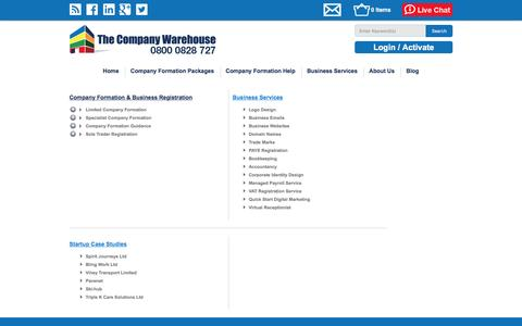Screenshot of Site Map Page thecompanywarehouse.co.uk - Site Map | TheCompanyWarehouse.co.uk - captured Jan. 12, 2016