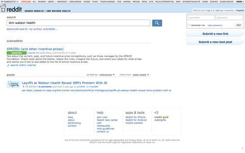 reddit.com: search results - ibm watson health