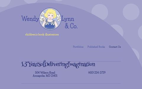 Screenshot of Contact Page wendylynn.com - Contact Us — Wendy Lynn & Co. - captured Oct. 20, 2017