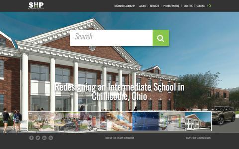 Screenshot of Home Page shp.com - SHP Leading Design - captured Sept. 29, 2017