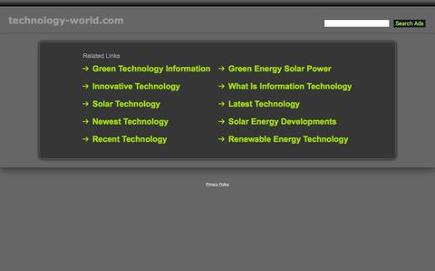 Screenshot of Home Page technology-world.com - Technology-World.com - captured Feb. 23, 2016