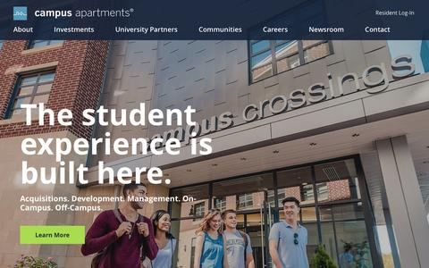 Screenshot of Home Page campusapartments.com - Campus Apartments, LLC. - captured May 13, 2017