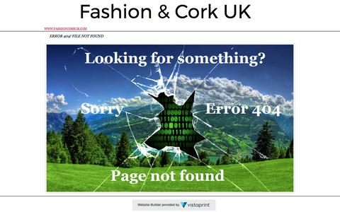 Screenshot of Home Page fashioncorkuk.com - Fashion Cork UK- The Trendy Natural Cork - captured June 5, 2017