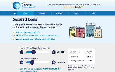 Secured Loans from £10K to £250K with Ocean Finance®