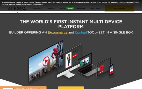 Screenshot of Home Page alegra.io - Multi Devices Platforms - captured July 8, 2018