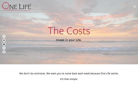 Screenshot of Pricing Page onelifediet.com - One Life Diet Weight Loss Experts | Pricing | San Diego Solana Beach Carlsbad — One Life Diet | San Diego's Best Medical Weight Loss Plan - captured Nov. 29, 2016