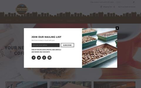 Screenshot of Locations Page parkavenuecoffee.com - Locations – Park Avenue Coffee - captured Nov. 4, 2018