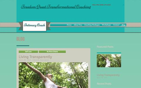 Screenshot of Blog freedomquest.ca - Sex and Relationship Coaching - captured Oct. 14, 2017