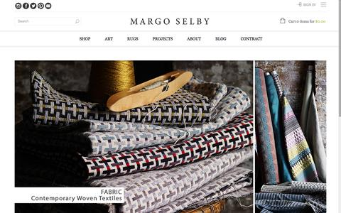 Screenshot of Home Page margoselby.com - Margo Selby | Luxurious and Decorative Textiles - captured Sept. 20, 2018