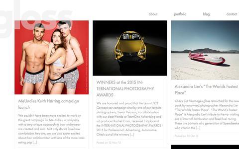 Screenshot of Blog gloss-postproduction.com - blog | gloss-postproduction.com - captured Feb. 2, 2016