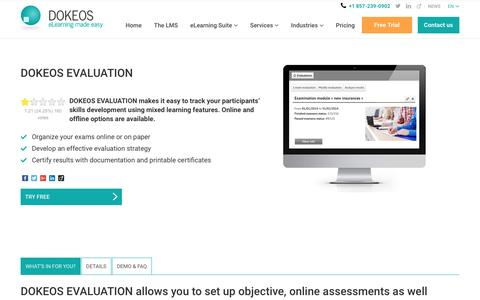 DOKEOS EVALUATION, a solution to assess and evaluate skills online