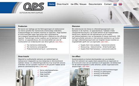 Screenshot of Contact Page outsourcingpartssupplies.com - Outsourcen met OPS! uitbesteden van machineonderdelen mechanica:  metaalbewerking & plaatbewerking - Outsourcing Parts Supplies - captured Nov. 29, 2016