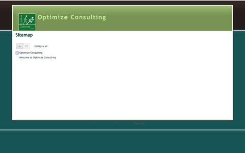 Screenshot of Site Map Page optimize-consulting.co.uk - Sitemap - Optimize Consulting - captured Oct. 26, 2014