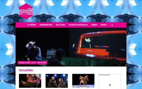 Screenshot of Home Page theatre-hexagone.eu - hexagone2014 - captured Jan. 29, 2015
