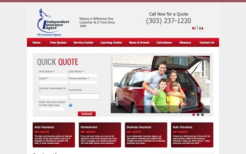 Screenshot of Locations Page pei-insurance.net - Insurance Agency, Lakewood Co, Golden, CO, Colorado, Auto insurance, Home insurance, Business Insurance. Agency Locations - captured Sept. 25, 2018