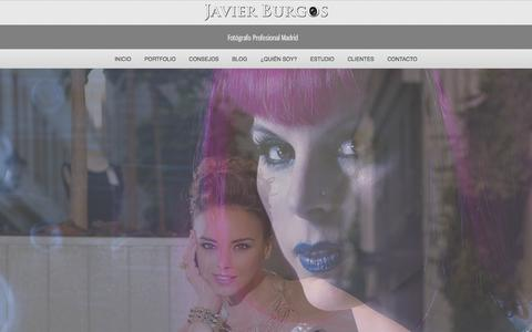 Screenshot of Home Page javierburgos.net - Fotógrafo Madrid | Javier Burgos - Fotografo Moda Madrid - Book modelos - captured Oct. 6, 2014