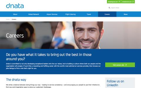 Screenshot of Jobs Page dnata.com - Careers | dnata - captured Aug. 2, 2016