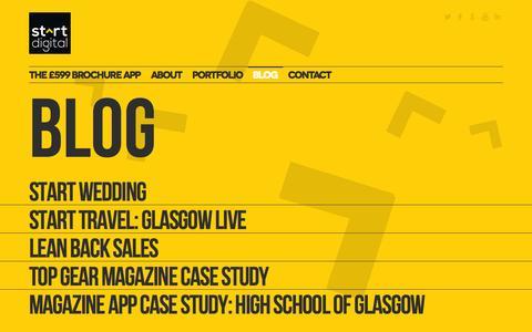 Screenshot of Blog startdigitalpublishing.com - Start Digital  » Blog - captured Oct. 7, 2014