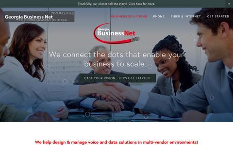 Screenshot of Home Page gabn.net - Georgia Business Net VoIP, Fiber, PBX, Internet Service, Datacenter Augusta, GA - captured Jan. 27, 2016