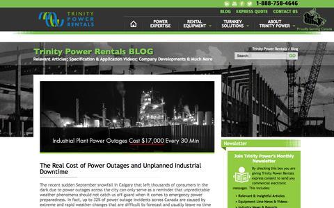 Screenshot of Blog trinitypower.com - Trinity Power Blog - Relevant Articles, Videos & Company News - captured Oct. 8, 2014