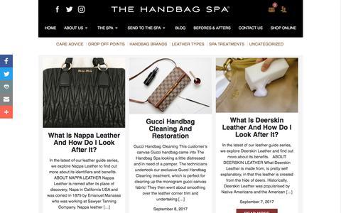 Screenshot of Blog thehandbagspa.com - Blog - The Handbag Spa - captured Oct. 22, 2017