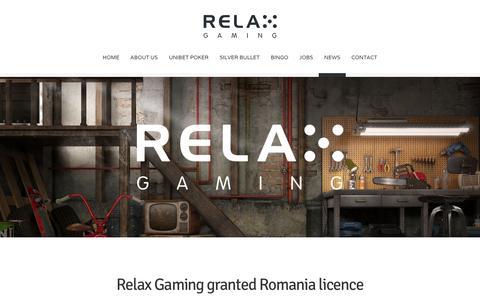 Screenshot of Press Page relax-gaming.com - NEWS - Relax Gaming Ltd. - captured Dec. 2, 2016
