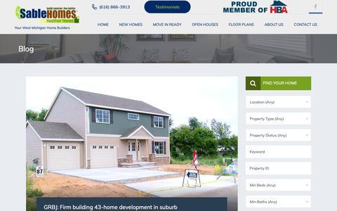 Screenshot of Press Page sablehomes.com - Blog - Sable Homes - captured Oct. 1, 2018