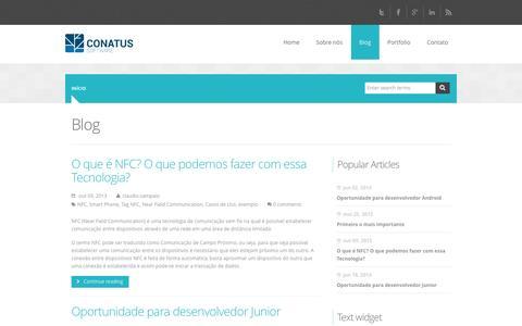 Screenshot of Blog conatussoftware.com.br - Blog | Conatus Software - captured Oct. 2, 2014