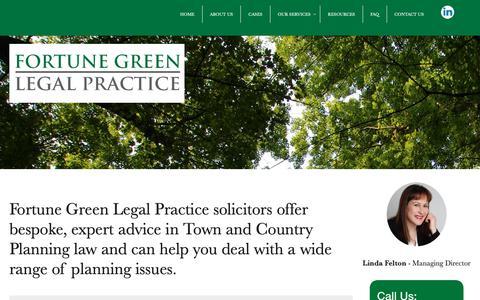 Screenshot of FAQ Page fglp.co.uk - FAQ - Fortune Green Legal Practice - captured Oct. 10, 2018