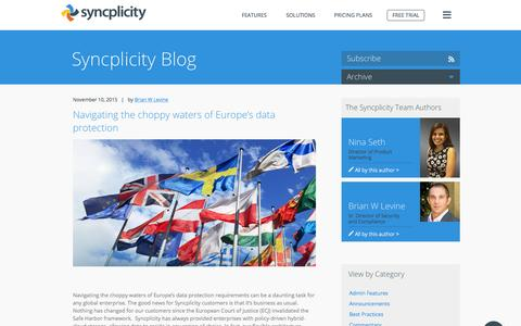 Blog | Page 1 | Syncplicity