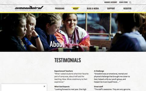 Testimonials – Snowbird Wilderness Outfitters : Snowbird Wilderness Outfitters