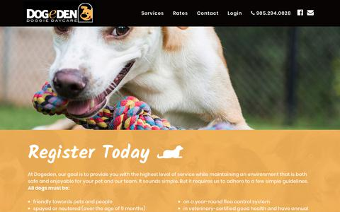 Screenshot of Contact Page dogeden.com - Contact Dogeden - Dog Daycare and Dog Grooming in Markham, ON - captured Oct. 9, 2018
