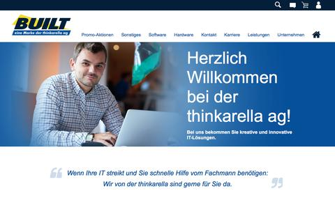 Screenshot of Home Page built-direkt.de - · BUILT - Ihr Online Systemhaus - captured July 5, 2018