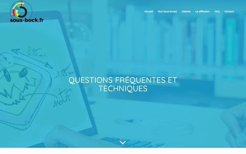 Screenshot of FAQ Page sous-bock.fr - FAQ - Sous Bock - Fabricant et distributeur de sous-bocks - captured April 10, 2018