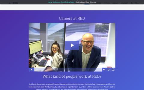 Screenshot of Jobs Page realestatedynamics.com.au - Careers - Real Estate Dynamics - captured Sept. 26, 2018