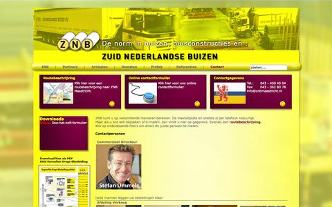 Screenshot of Contact Page znbmaastricht.nl - Contact - captured Oct. 7, 2014