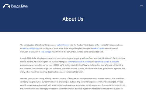 Screenshot of About Page polarking.com - About Us | Polar King - captured Aug. 16, 2019