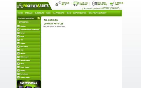 Screenshot of Blog pcserverandparts.com captured Oct. 28, 2014