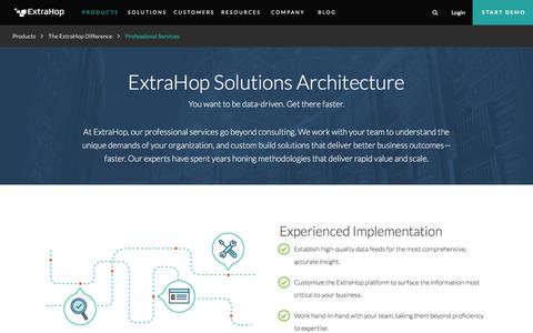 Screenshot of Services Page extrahop.com - IT Operations & Wire Data Analytics Services and Solutions | ExtraHop - captured Aug. 21, 2018