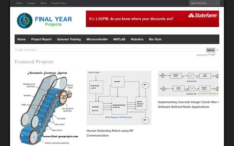 Screenshot of Home Page final-yearproject.com - FREE FINAL YEAR PROJECT'S - captured Sept. 19, 2014