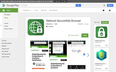 Webroot SecureWeb Browser - Android Apps on Google Play