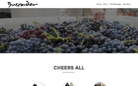 Screenshot of Home Page buscadorwine.com - Buscador – Love the search… - captured July 30, 2016