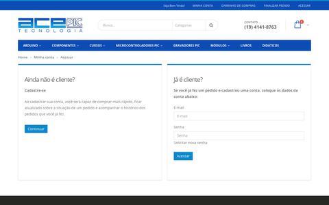 Screenshot of Login Page acepic.com.br - Acessar Conta - captured Nov. 12, 2018
