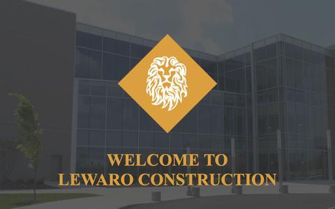 Screenshot of Home Page lewaro.com - Lewaro Construction | Dayton, OH | Construction Company - captured Jan. 22, 2016