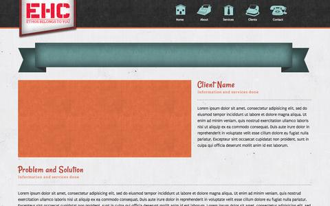 Screenshot of Case Studies Page ehcsf.com - Case Studies - captured Oct. 2, 2014