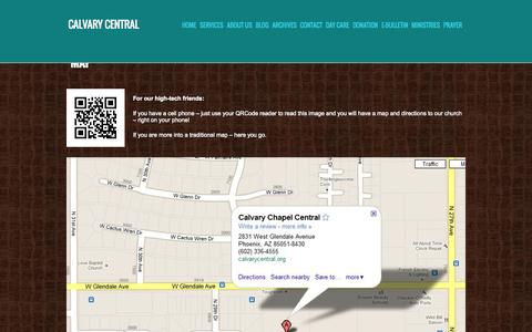 Screenshot of Maps & Directions Page calvarycentral.org - Map » Calvary Central - captured Oct. 1, 2014