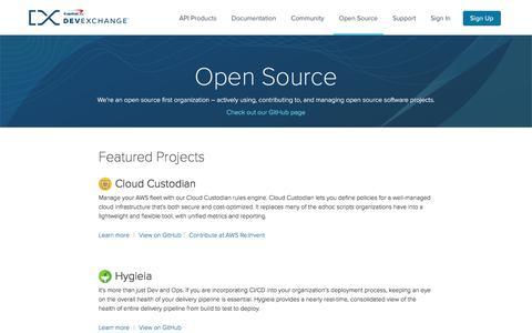 Open Source | Capital One DevExchange