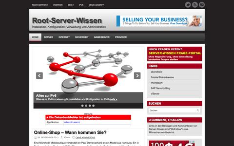 Screenshot of Home Page server-wissen.de - Root-Server und vServer Installation und Konfiguration - captured Sept. 22, 2014
