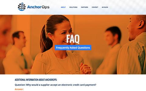 Screenshot of FAQ Page anchorops.com - FAQ | AnchorOps - captured Dec. 25, 2015